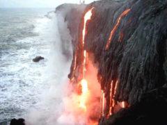 Lawa z wulkanu na Hawajach